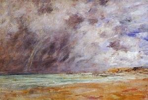 Eugène Boudin - Le Havre, Stormy Skies over the Estuary