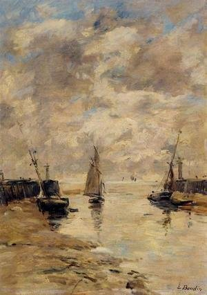 Eugène Boudin - Trouville, the Jettys, Low Tide VIII