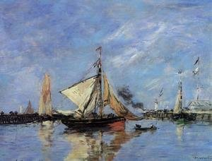 Eugène Boudin - Trouville, the Jettys, High Tide III