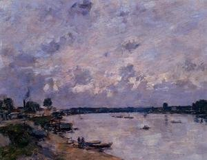 Eugène Boudin - The Banks of the Seine at Caudebec en Caux