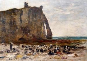 Eugène Boudin - The Laundresses of Etretat