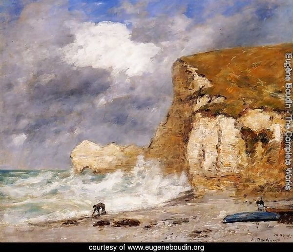 Etretat: the Amont Cliff in November