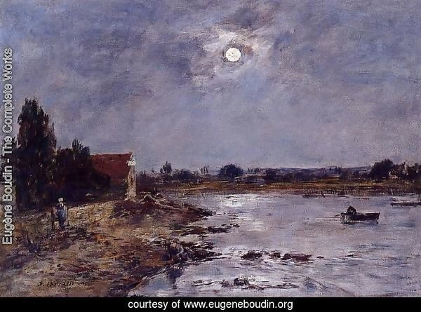 The Banks of the Touques - Moonlight