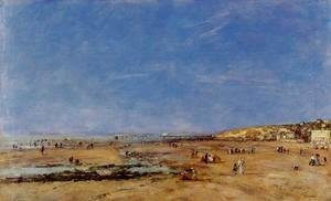 Eugène Boudin - Trouville, Panorama of the Beach
