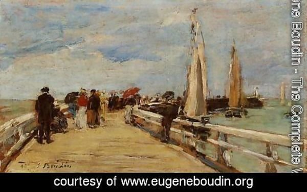 Eugène Boudin - Deauville, the Jetty II