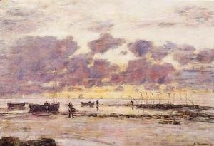 Eugène Boudin - The Shores of Sainte Adresse at Twilight