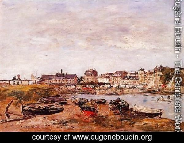 Eugène Boudin - Trouville, the View from Deauville on Market Day