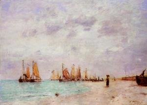 Eugène Boudin - The Beach at Scheveningen