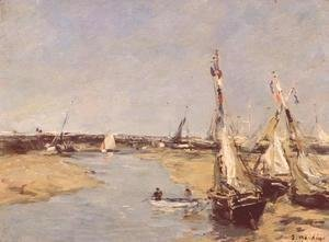 Eugène Boudin - Trouville at Low Tide