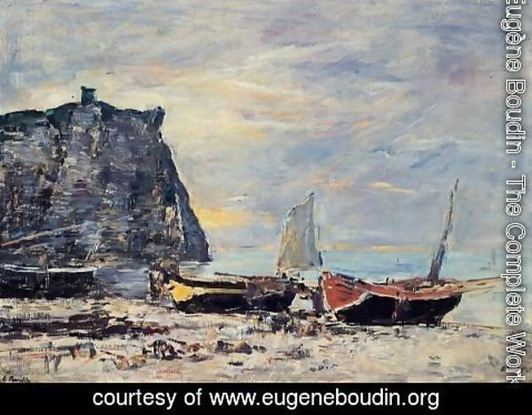 Eugène Boudin - Etretat, the Cliff of Aval