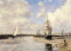 Eugène Boudin - Estuary at Trouville
