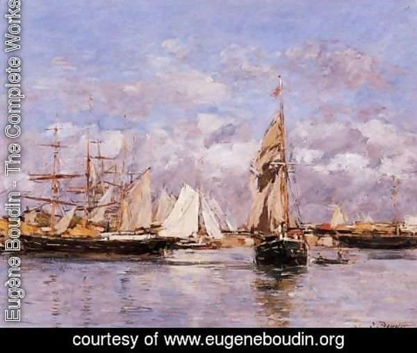 Eugène Boudin - The Port of Trouville, High Tide