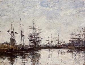 Eugène Boudin - Deauville, the Harbor VI