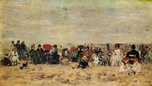 Eugène Boudin - The Beach at Trouville VIII