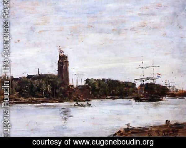 Eugène Boudin - The River Scheldt