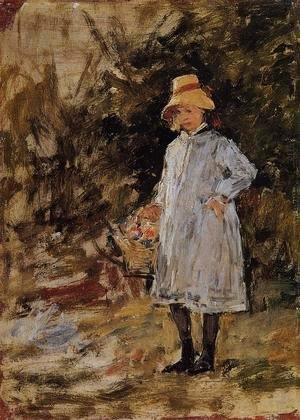 Eugène Boudin - Portrait of a Little Girl