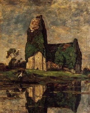 Eugène Boudin - Criqueboeuf, the Church