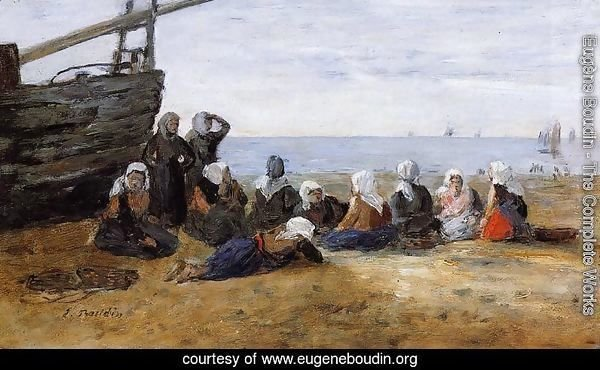 Berck, Group of Fishwomen Seated on the Beach