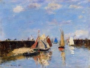 Eugène Boudin - The Port of Trouville II