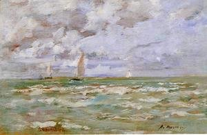 Eugène Boudin - Standing off Deauville
