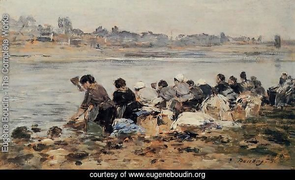 Laundresses on the Banks of the Touques XV