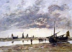Eugène Boudin - Low Tide at Berck
