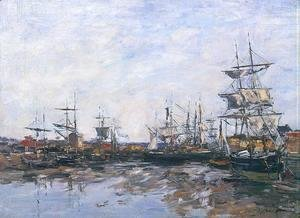Eugène Boudin - Trouville, the Port at Low Tide