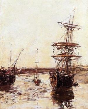 Eugène Boudin - Trouville: the Outer Harbor