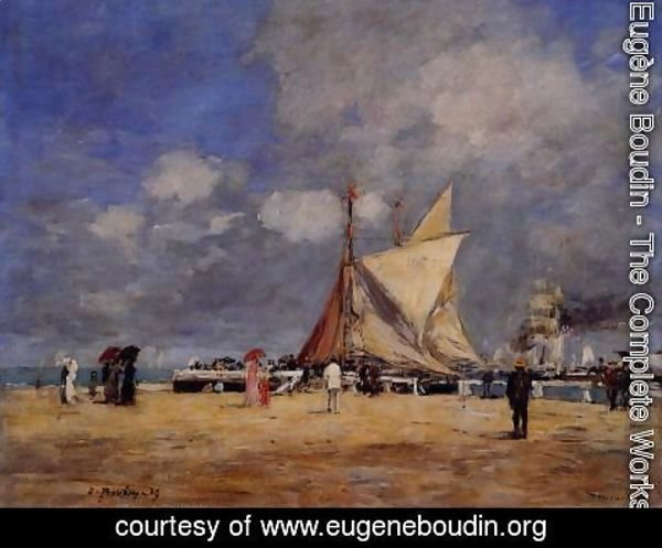 Eugène Boudin - Deauville, on the Jetty