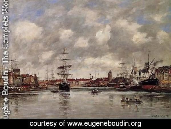 Eugène Boudin - Dunkirk, the Hollandaise Basin