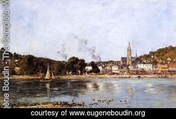 Eugène Boudin - The Seine at Caudebec-en-Caux
