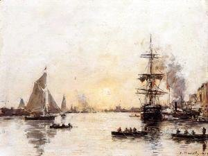 Eugène Boudin - Le Havre, the Outer Port II