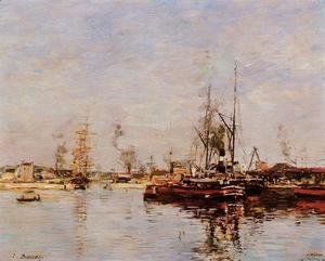 Eugène Boudin - Entrance to the Port of Le Havre