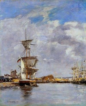Eugène Boudin - Deauville, the Harbor VIII