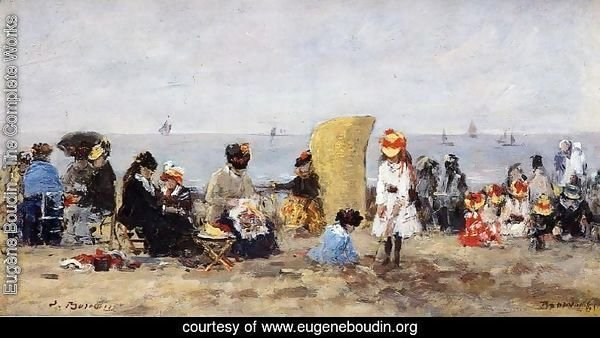 Trouville, Beach Scene XV