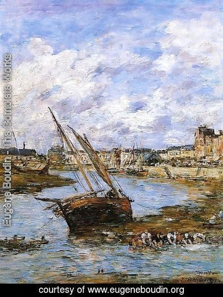 Eugène Boudin - Trouville, the Inner Port, Low tide