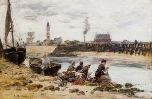 Eugène Boudin - Laundresses I