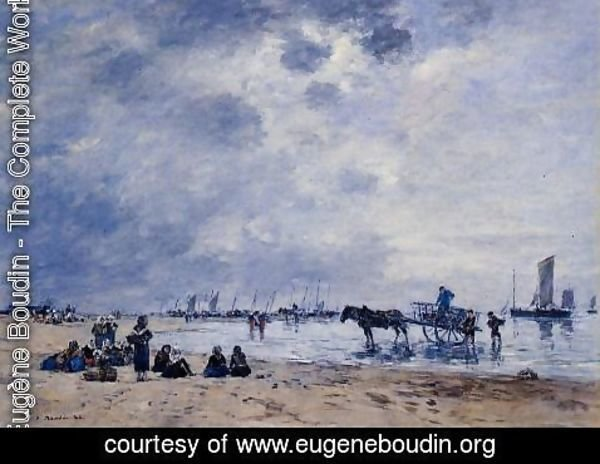 Eugène Boudin - Berck, the Arrival of the Fishing Boats
