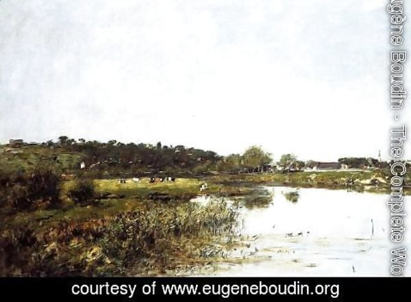 Eugène Boudin - The Banks of the Touques II