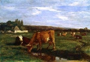 Eugène Boudin - Pasture in the Touques Valley