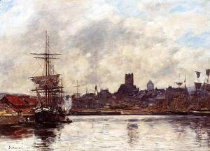 Eugène Boudin - Fecamp, the Port I