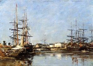 Eugène Boudin - Trouville, the Port IV