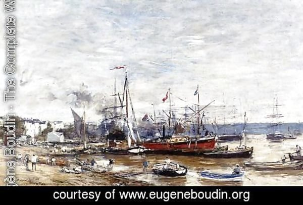 Eugène Boudin - Bordeaux, a Corner of the Port
