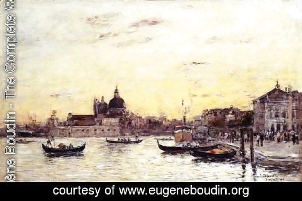 Eugène Boudin - Venice, The Mole at the Entrance to the Grand Canal and the Salute