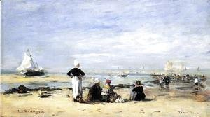 Eugène Boudin - Low Tide at Trouville