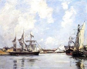 Eugène Boudin - Deauville, the Port