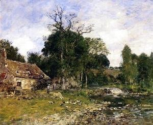 Eugène Boudin - The Old Mill at Saint-Ceneri