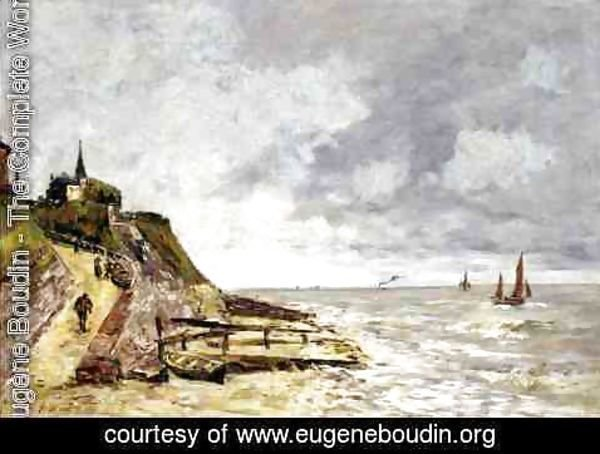 Eugène Boudin - The Shore and the Sea, Villerville