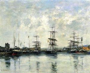 Eugène Boudin - Deauville, the Harbor IX