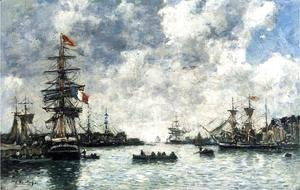 Eugène Boudin - Le Havre, The Outer Harbor